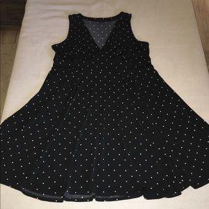 Torrid unwrinkle-able polka dot little black dress